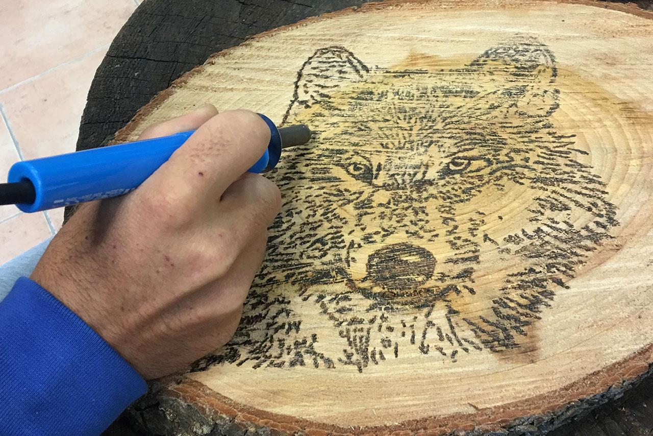Pirograbado en madera